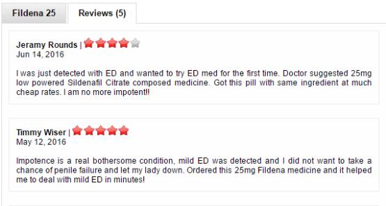 Fildena 25 reviews