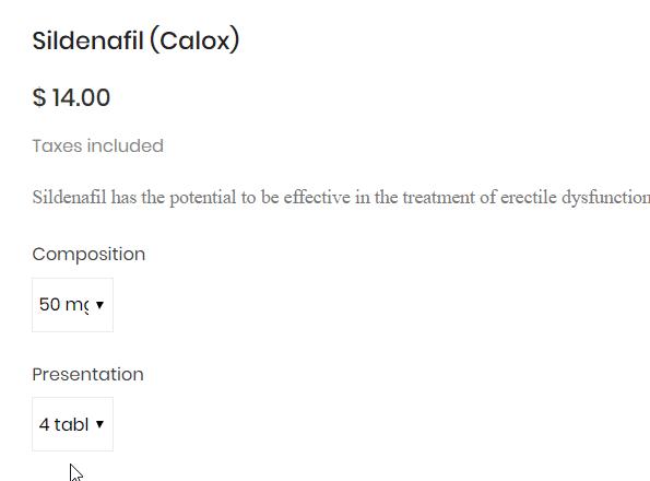 Sildenafil Calox 50mg Price