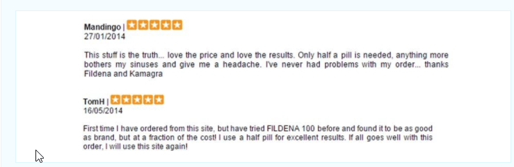 Fildena Reviews