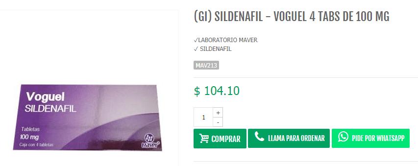 Voguel Sildenafil Price