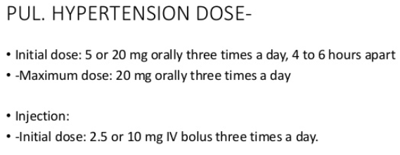 Dosage for treating high blood pressure